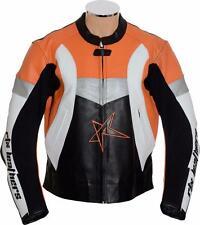 RTX Violator Orange KTM Armoured Leather Sports KTM Biker Jacket 48in 3XL EU58