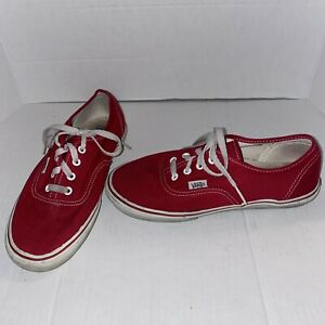 Women's Vans Off The Wall Red & White Shoes Size 9