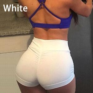 Women Yoga Pants Shorts High Waist Butt Lift Scrunch Exercise Booty Trousers