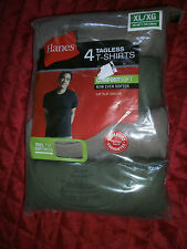 HANES 4 TAGLESS T SHIRTS GREY AND GREEN