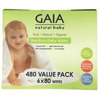 Gaia Natural Baby Bamboo Wipes 480