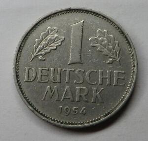 Germany-Federal Republic Mark 1954F Copper-Nickel KM#110