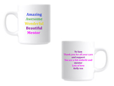 Personalised Thank you Gift Mug For Mentor