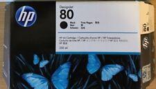 New Genuine Factory Sealed HP 80 Black 350 ml Hi Yld Ink Cartridge C4871A 2015