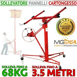 ALZALASTRE CARTONGESSO SOLLEVATORE XXL PARETE LASTRE ALZAPANNELLO CARRELLO 3,5MT