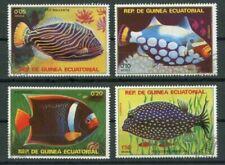 Francobolli a tema pesci e animali marini, di Guinea Equatoriale, tema pesci