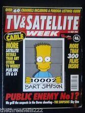 TV & SATELLITE WEEK - BART SIMPSON - 1 JULY 1995