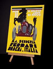 FERRARI -1930/31/32/33 MODENA ITALIA STRETCHED AND FRAMED CANVAS
