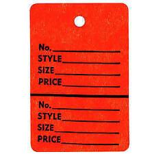Orange Inventory Tag 1 1/4 x 1 7/8 Case of 1000, 47601