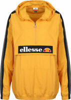 Ellesse Overhead Jacket Marnia Yellow Lightweight Track Top 10uk New