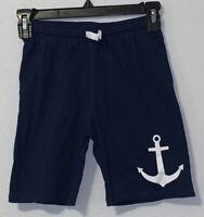 NWT H&M  Boys Size 7-8 Anchor Printed Shorts Dark Blue Nautical