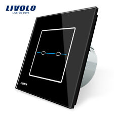 Livolo Glas Touch Lichtschalter Steckdose Touchscreen 2 Gang Schalter Steckdosen