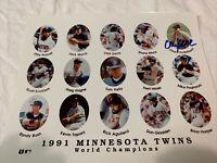 Chuck Knoblauch Minnesota Twins Team SIGNED Autographed 8x10 Photo 1991 A.L. ROY
