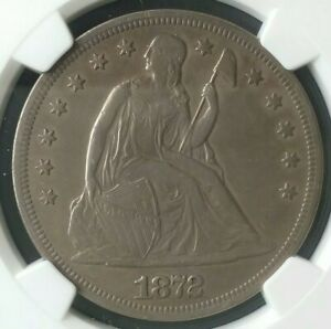 1872 $1 Seated Liberty Silver Dollar NGC XF Details Cleaned