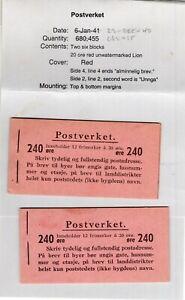 Norway MNH booklets - VF - Norgeskatalogen  FH-18 II A & B