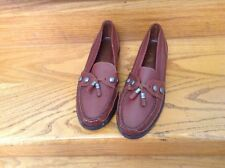 WOMEN'S MISS CAPEZIO BROWN TAZZLE LOAFERS SIZE 8 1/2 N