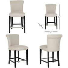 New listing Seth 25.9 in. Taupe Cushioned Bar Stool