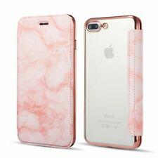 Marble Print Clear Leather Flip Phone Case Cover For iPhone XS MAX 6 7 8 Plus XR