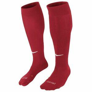 NIKE Classic cushioned Knee High Soccer Socks RED SX5728-648 size 8-12 Men's (L)