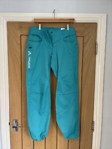 Vaude Womens Cycling Walking Trousers 38 Short Waterproof Green Mountain Road