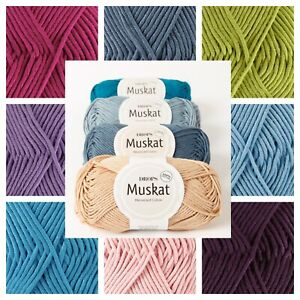 Drops Muskat DK Mercerised Cotton Double-knit Oeko-Tex Yarn Crochet ! Sale !