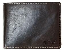 Men's large brown trifold genuine natural strong leather wallet Tillberg