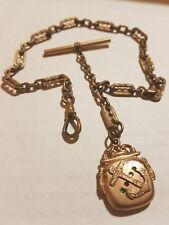 Antique Nautical Anchor & Rhinestone Hollow Pendant Pocket Watch Fob