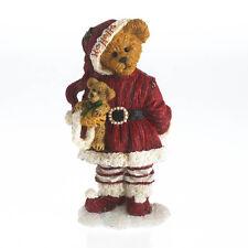 Boyds Bear Figurine Nikki Goodfriend with Lil' Holly Christmas Figurine Santa