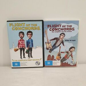 Flight of the Conchords Seasons 1 & 2 DVD Region 4, Sent Tracked, Free Postage