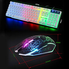 Game equipment USB led wired keyboard quiet and mouse mousepad combo gaming set