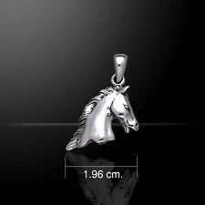 Horse Head .925 Sterling Silver Pendant by Peter Stone