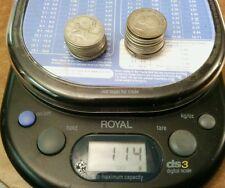 $5.00 Face Value 80% Silver Canadian Quarters. 4 total ounces, 114 grams