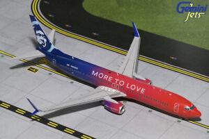 GEMINI JETS ALASKA AIRLINES B737-900ER 1:200 G2KLM924 MORE TO LOVE IN STOCK
