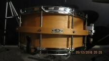 7x14 custom organic snare drum floating shells maple/birch/maple
