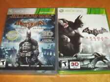 Batman: Arkham City & Asylum Game of the Year Edition Xbox 360 Both Complete!