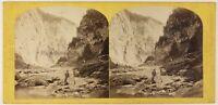 Suisse via Mala Foto W.Inghilterra Stereo Th1L7n33 Vintage Albumina c1865