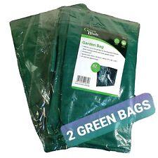2 x Blackspur Garden Bag Waste Leaves Grass Weeds Refuse Heavy Duty (82 Litres)
