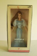 Barbie Doll Sagittarius Horoscope Collector Pink Label blue gown Birthday