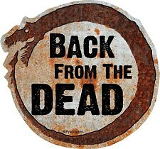 """1 - 4"""" Hot Rod Rat Rod Back From The Dead Decal Sticker Parts Rusted Dragon 750"""