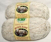 Lion Brand Wool Ease Yarn Lot Acrylic Wool Blend Wheat 402 Color 85 Gr 197 Yds