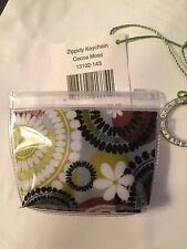 Vera Bradley Zippidy Keychain in Cocoa Moss pattern - New With Tags