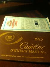 1975 CADILLAC ORIGINAL OWNERS MANUAL & MAINTENANCE SCHEDULE  ** FREE SHIP USA **