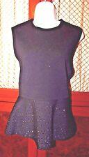 Christian Dior  Crystal  Embellished Knit Shirt Size 8 US
