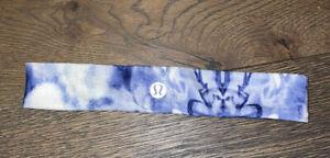 Vintage Lululemon Blue Tie Dye Headband
