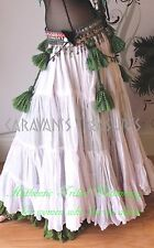 White 35 Yd  Skirt Gypsy Tribal Fusion Belly Dance ATS