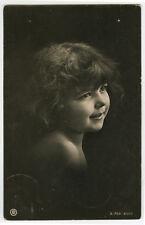 c 1906 Adorable LITTLE GIRL Child Children Traut photo postcard