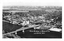 La Crosse Wisconsin New Bridge Downtown Real Photo Antique Postcard K27096