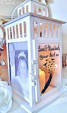 Memory lantern any wording personalised candle memorial graveside grave outdoor
