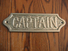 Cast Iron Brass Finished Captain Sign- ready for mounting