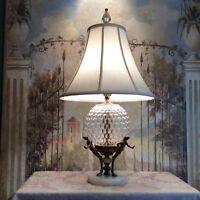 Vintage Art Deco Glass Globe MarbleTable Lamp
